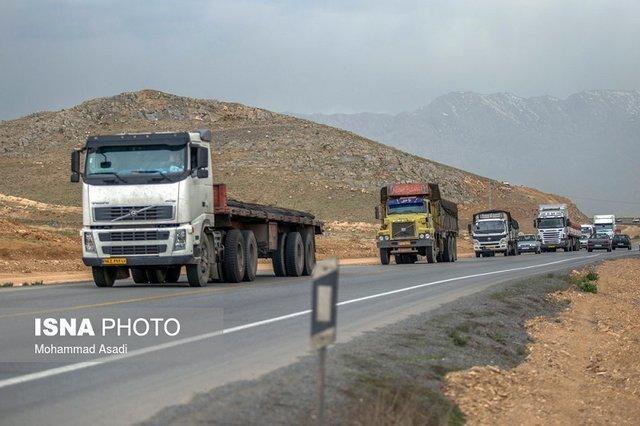 تردد تریلی و کامیون در جاده قدیم ساوه همدان ممنوع شد